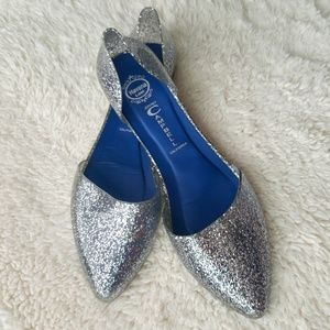Jeffrey Campbell Jelly Love Glitter d'Orsay Flats